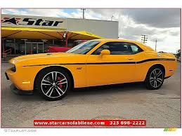 Dodge Challenger Yellow - 2012 stinger yellow dodge challenger srt8 yellow jacket 72159782
