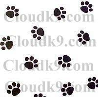 paw print tissue paper dog themed packaging cello treat bags ribbon tissue paper