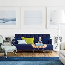 blue livingroom beach house color ideas coastal living