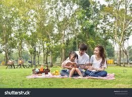 happy family garden portrait happy asian family garden stock photo 400618660