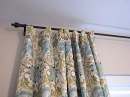 Textured Cotton Tie Top Drape by Our Nesting Ground Lined Curtain Panels And Tie Back Tutorial