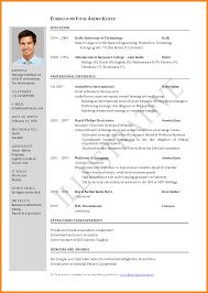 format of carriculum vitae gallery of curriculum vitae sample curriculum samples 11
