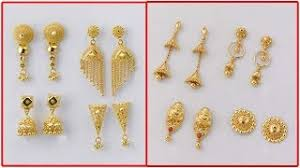 gold earrings design with weight gold earrings designs with weight