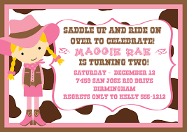 cowgirl birthday party invitations stephenanuno com