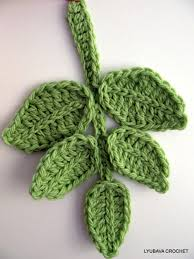 free crochet leaf tutorial easy patterns crochet hooks and yarns