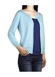 light blue cardigan sweater zattitude women s lightweight soft 3 4 sleeves cardigan sweater