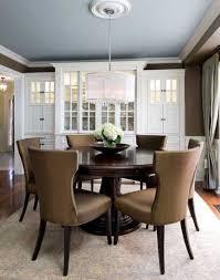 ceiling blue medallion rustic trim white white walls pecan