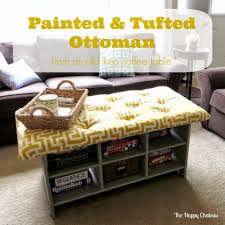 coffee table diy pallet tufted coffee tableottoman how to make an
