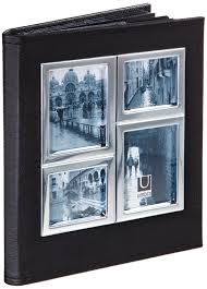 umbra photo album umbra horizon 4 inch by 6 inch 2 opening photo album black and