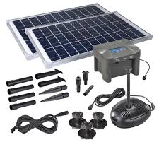 Solar Floating Pond Lights by Solar Water Fountain Kits U0026 Pumps For Garden Ponds Pk Green
