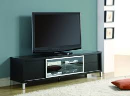 furniture black wooden large media cabinet with glass door