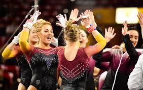 Desert Lights Gymnastics Gym Devils Return Home To Face No 5 Ucla Arizona State University