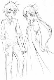 anime cute couple sketch 1000 images about couples drawings on