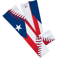Flag Puerto Rico Amazon Com Puerto Rico Flag Baseball Lace Arm Sleeve L Xl 2 Pack