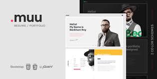 resume portfolio template web design development mobile application development