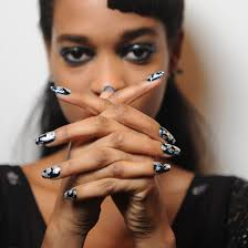 the hottest nails from london fashion week london fashion week