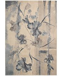 Flower Area Rug Closeout Nourison Somerset Ivory Blue Flower Area Rugs Rugs