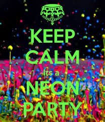 neon party kids neon glow painting party bisque it a studio
