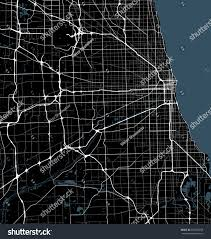 Chicago City Map by Black White Map Chicago City Illinois Stock Vector 532060258