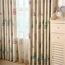 owl bedroom curtains amazon com edal cartoon owl bird blackout sheer tulle curtains