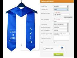 custom graduation stole how to design your custom graduation sashes or stoles online