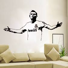 Decoration Star Wall Decals Home by Personalized Football Cristiano Ronaldo Wall Stickers Wall Decals
