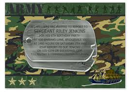 army birthday invitations free printable addnow info