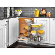 blind corner kitchen cabinet home depot rev a shelf 15 in corner cabinet pull out chrome 3 tier