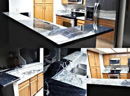 copacabana granite countertop remodel with bevel edge and 60 40