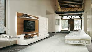 Monoblock Wall Unit Living Room Design Ideas With White High - Furniture wall units designs