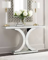 White Mirrored Bedroom Furniture Furniture New Modern Style Mirrored Buffet Table For Home