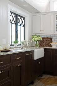 a modern farmhouse kitchen terra cotta wall tiles and sinks