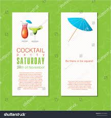 summer cocktail party invitation banner flyer stock vector