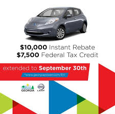 nissan leaf tax credit georgia power electric transportation home facebook