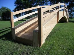 garden bridges redwood cedar bridges pedestrian wooden bridges