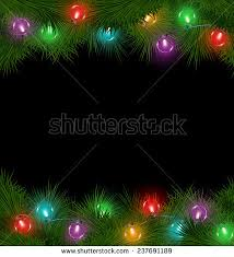 multicolored christmas lights on pine branches stock vector