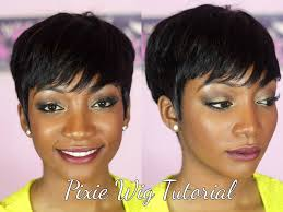 how to do a pixie hairstyles diy how to make a pixie wig youtube