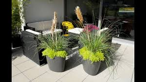 Small Flower Pot by Small Garden Design With Large Planters Youtube