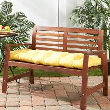 Bench Cushions For Outdoor Furniture by 51 Inch Outdoor Sunbeam Bench Cushion Free Shipping Today