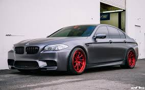matte red bmw frozen gray bmw f10 m5 with adv 1 wheels adv 1 wheels