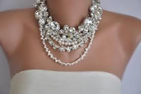 rhinestone necklace wedding images Handmade bridal collar with rhinestones and freshwater pearl jpg