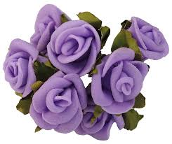 purple roses purple roses flower hairpins