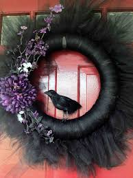 How To Make Halloween Wreath Baltimore Ravens Halloween Wreath A Smith Of All Trades