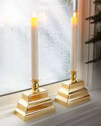 miracle led window candles set of 2 balsam hill