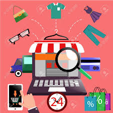 Awning Online Internet Shopping Concept Laptop With Awning Of Buying Products