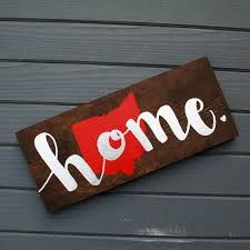 rustic ohio home wood pallet sign home decor porch sign