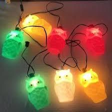 Owl Patio Lights Vtg 1960s Retro Lidco Kitsch Lantern Plastic Mold Rv Patio