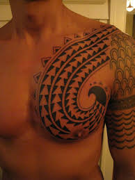 chest shoulder tribal tattoos for men cool tattoos bonbaden