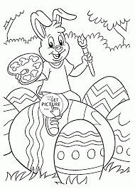 printable coloring pages easter bunny