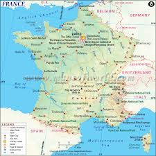 Provence Map Map Of France Shows Roads Airports National Capital Major